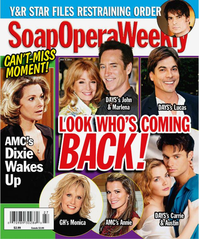 Soap Opera Weekly Magazine - June 25, 2002 - Bold and the Beautiful, Deidre Hall